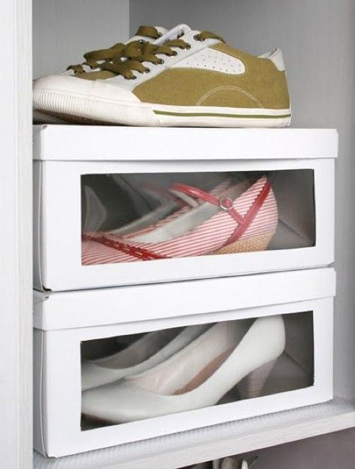 Подставка для обуви своими руками из коробок 71