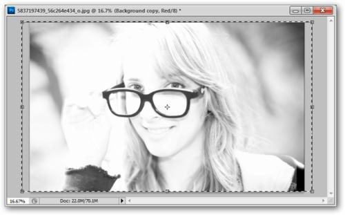 девушка в очках, 3D фотография