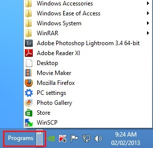 Programs-Toolbar