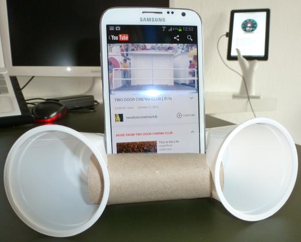 Динамик для телефона из стаканов