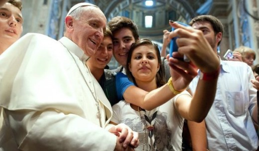 селфи с папой Франциском
