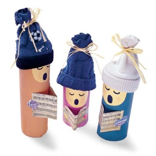 Поделки из пластиковых бутылок для туалетной бумаги 12