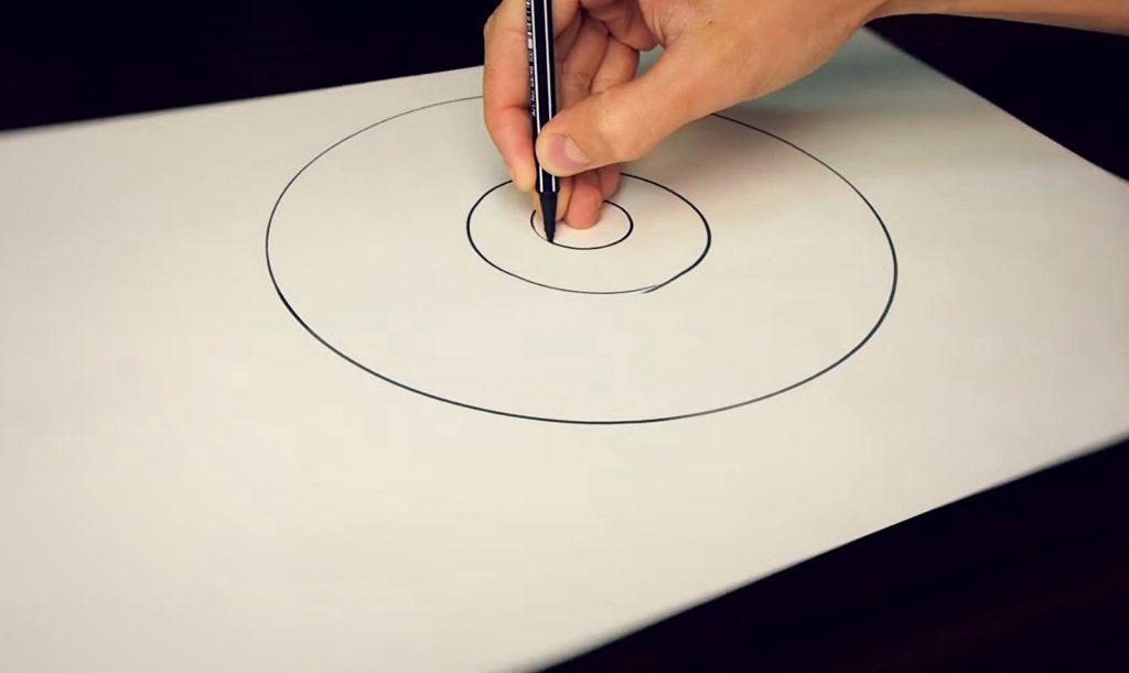 Рисовать круг от руки