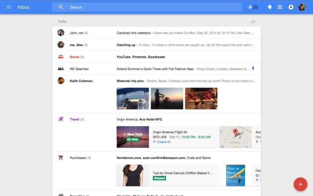 """Скриншот """"настольной"""" версии Inbox"""
