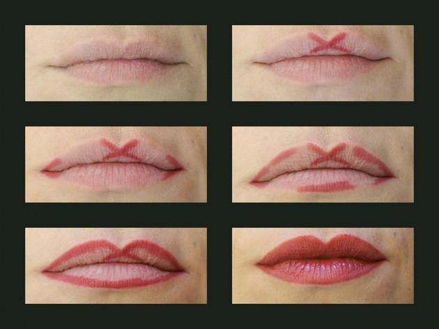 Легкий способ нарисовать контур губ