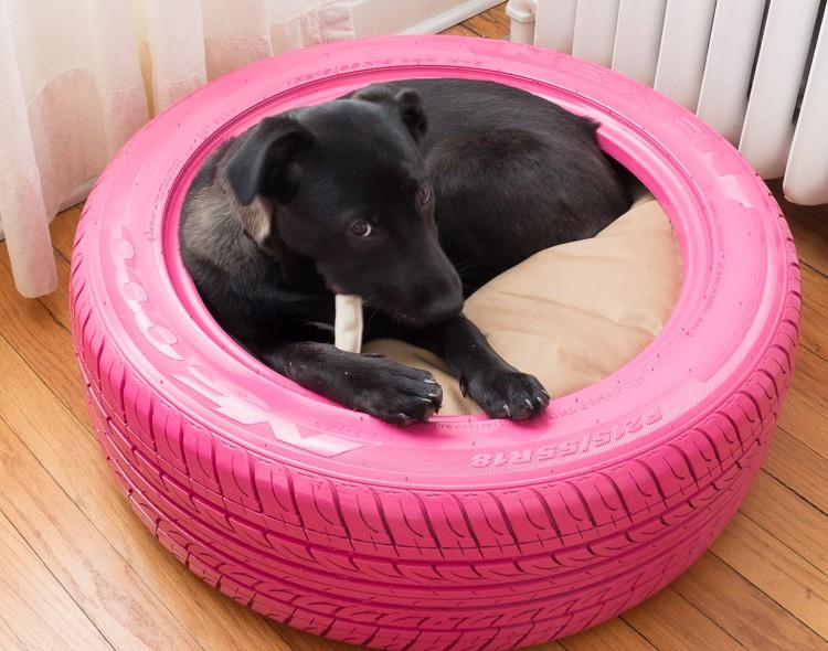 Как сделать лежанку для собачки