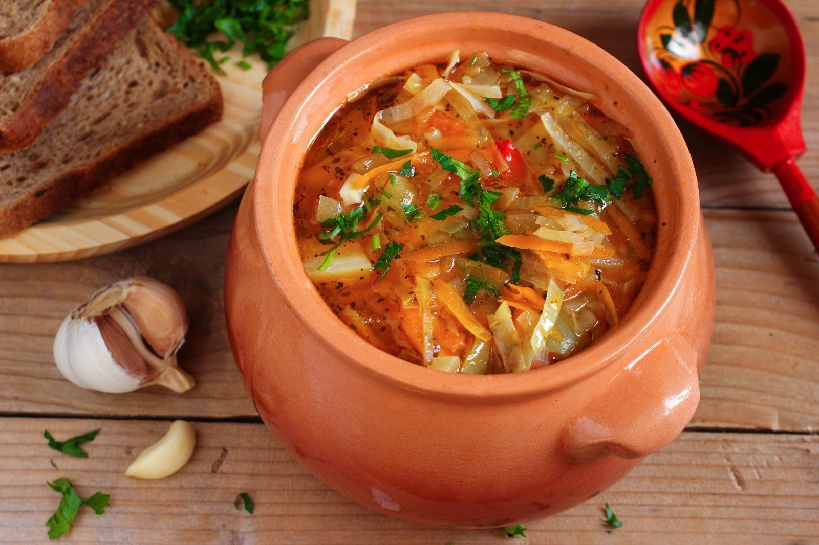 Суп из свежей капусты без мяса пошаговый рецепт с