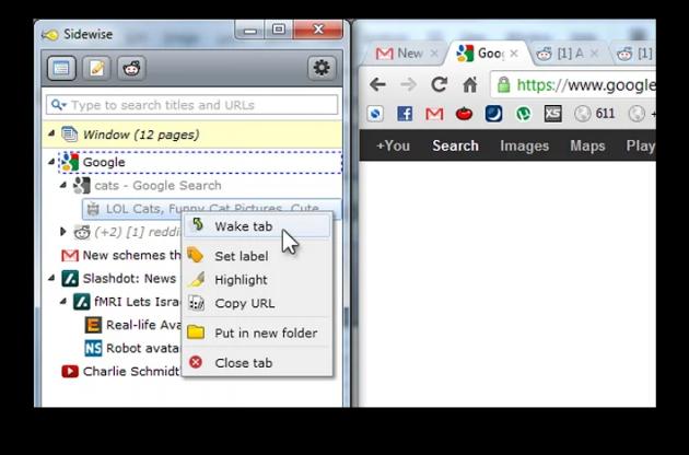 Расширения Chrome: боковая панель вкладок