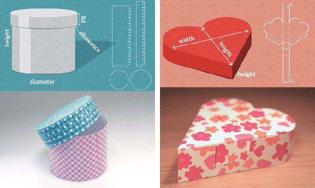 как упаковать подарок — как сделать коробку по шаблону