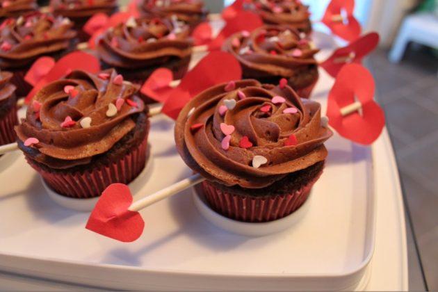 Подарки на День святого Валентина: кексы