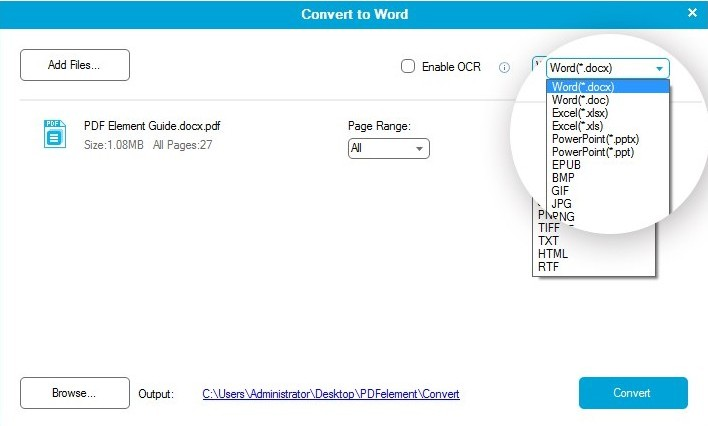 how to convert pdf to tiff in adobe reader