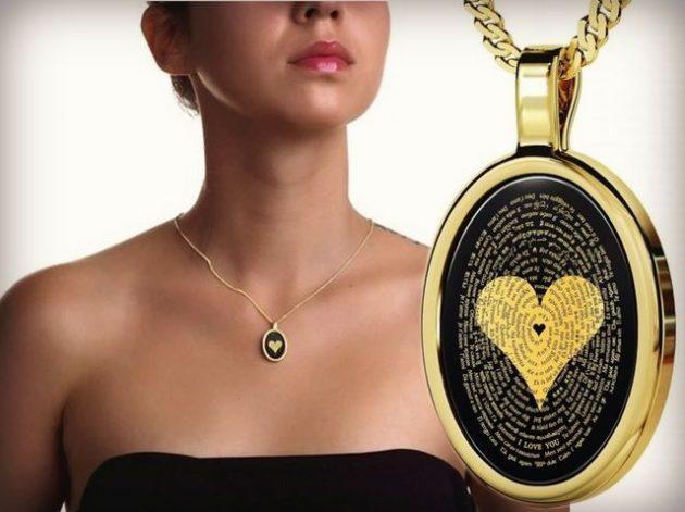 Подарки на День святого Валентина: кулон