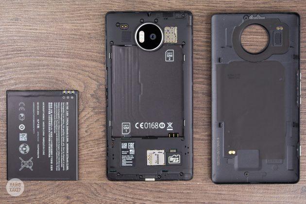 Lumia 950 XL в разобранном виде
