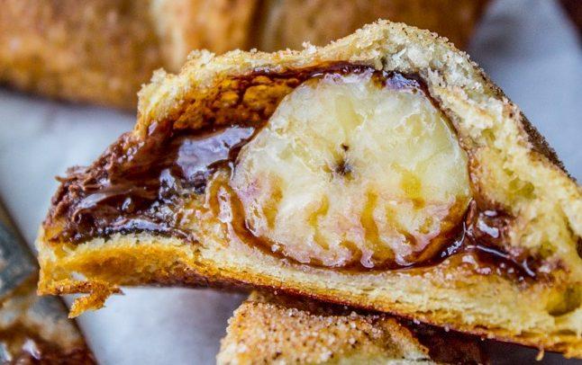 Пирог из слоеного теста с бананом рецепт пошагово