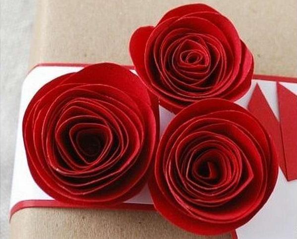 Роза из бумаги