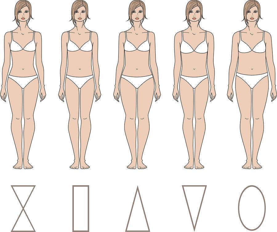 Типы телосложения женской фигуры