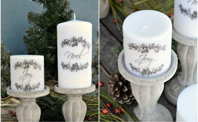 Как сделать подарки на Новый год своими руками: Свеча с гравировкой
