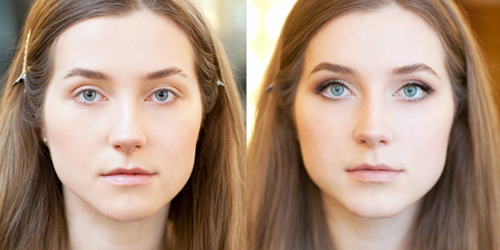 Увеличит глаза дневной макияж
