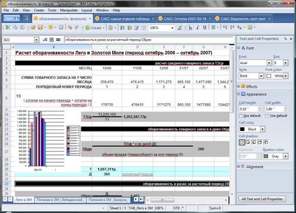 Lotus Symphony Spreadsheets - IBM создает таблицы