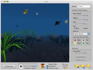 Заставка аквариум для mac