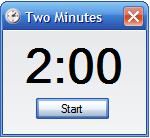 Two minute timer