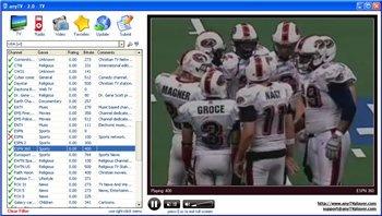 AnyTV - быстрая и удобная программа для просмотра TV через интернет