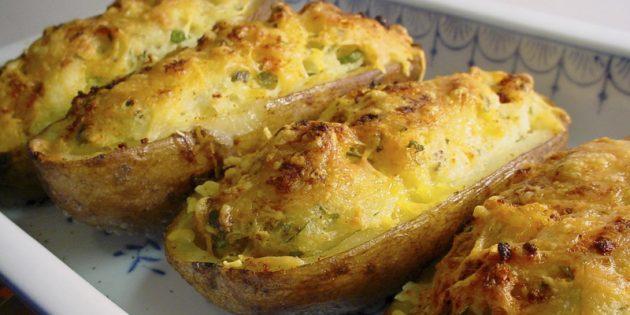 Вкусно и недорого: Печёный картофель с начинкой