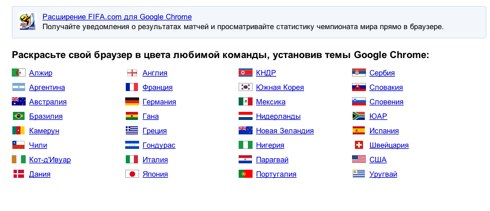 Поиск _Чемпионат мира по футболу_ в галерее расширений Google Chrome (стр. 1)-1