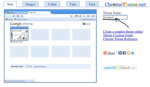 Create Chrome Theme Online