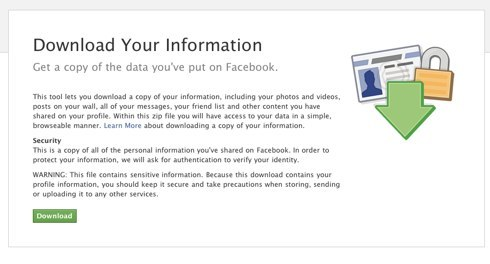 Facebook | Download Your Information-3