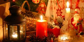 Новогодние украшения своими руками: воздушные шарики + воск = подсвечники