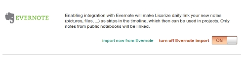 licorize - evernote