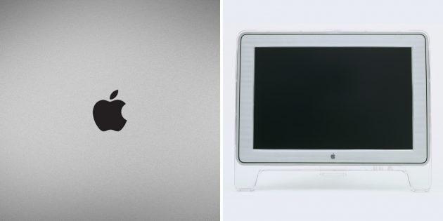 Логотип Apple: монохромная версия