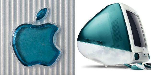 Логотип Apple: полупрозрачная версия