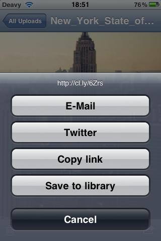Cloudette — бесплатный мобильный клиент для сервиса Cloud App