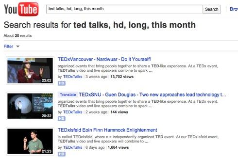 ted talks, hd, long, this month