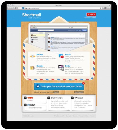 Shortmail ограничивает все письма 500-ми символами!