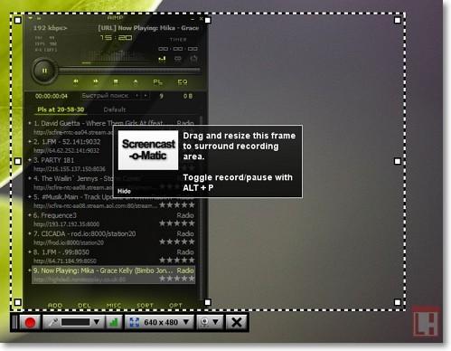возможности сервиса Screencast-O-Matic
