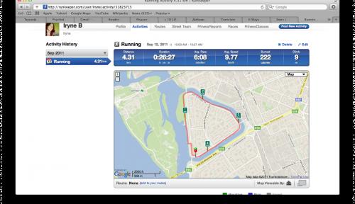 Обзор мобильного приложения Runkeeper для iPhone