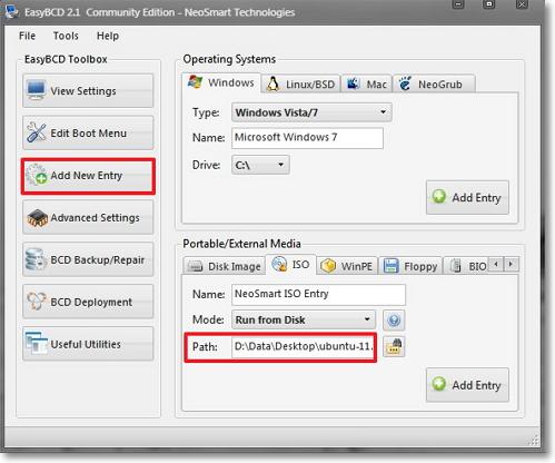EasyBCD: двойная загрузка Windows и Ubuntu