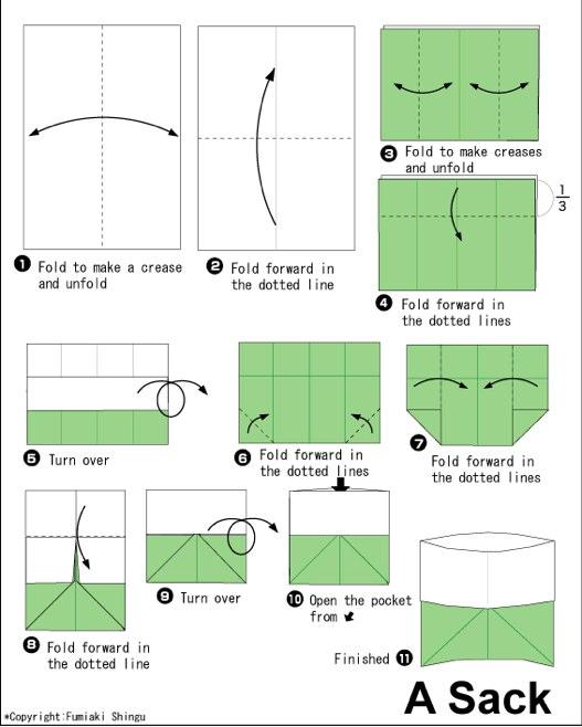 Схемы из бумаги пакетов