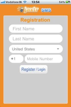 JaxtrSMS: бесплатные sms со своего реального номера