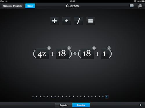 Algebra Touch - основы арифметики в одно касание!