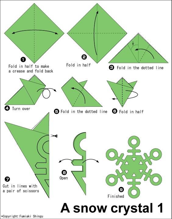 Схемы оригами украшения
