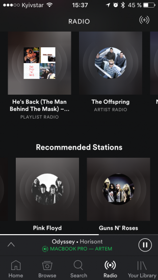 каталог музыки Spotify