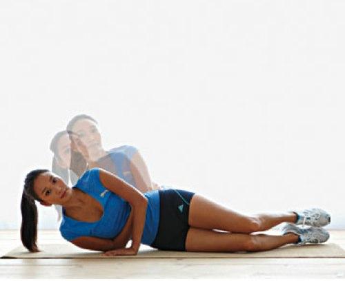 Упражнение для похудения на локтях