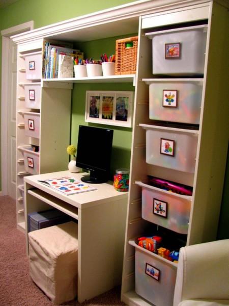 Идеи куда убрать детские игрушки фото