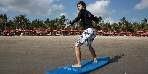как научиться кататься на сёрфе: вторая нога