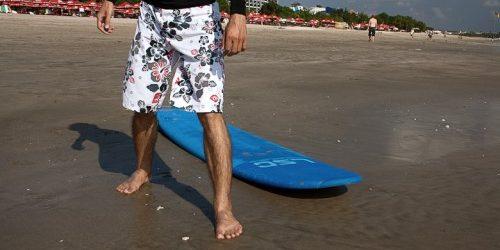 как научиться кататься на сёрфе: правильная поза