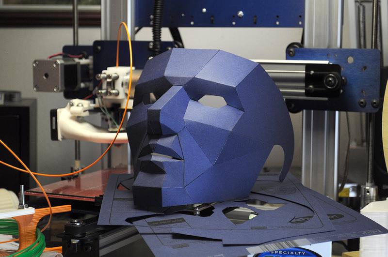 Как можно сделать маску из бумаги